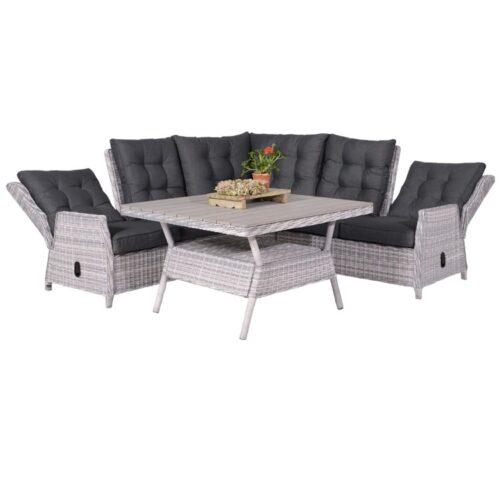 Dunham lounge/dining set 4 delig - Cloudy grey