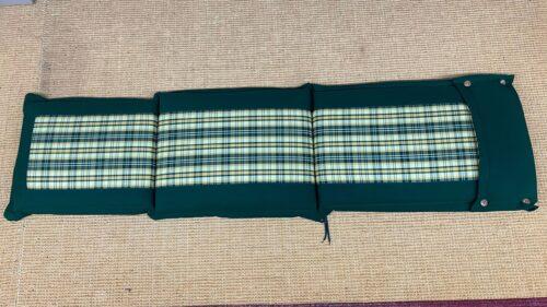 Deckchair kussen groen met ruitje