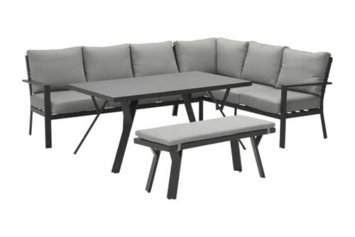 Garden Impressions Sergio lounge dining set antraciet